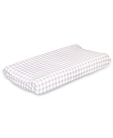 The Peanutshell Farmhouse Check Changing Pad Cover