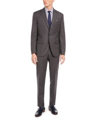 Men's Slim-Fit Gray Flannel Suit Separate Pants, Created for Macy's