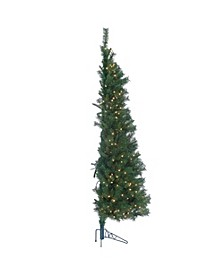 Pre-Lit Alpine Trees with Clear Lights - Set of 3