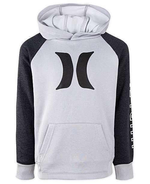 Hurley Big Boys Solar Icon Dri-FIT Hoodie