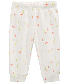 Baby Girls Cotton Printed Jogger Pants, Created for Macy's