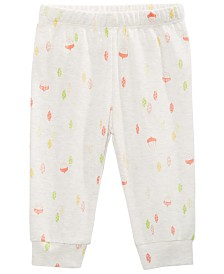First Impressions Baby Girls Cotton Printed Jogger Pants, Created for Macy's
