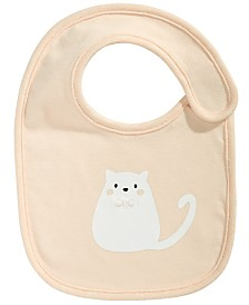 First Impressions Baby Girls Cotton Cat Bib, Created for Macy's