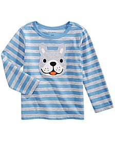 Toddler Boys Striped Dog-Print T-Shirt, Created for Macy's