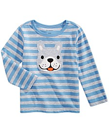 First Impressions Baby Boys Striped Dog-Print T-Shirt, Created for Macy's
