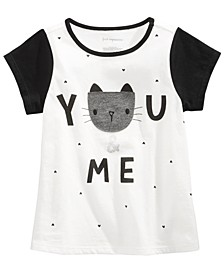 Toddler Girls Cat-Print Cotton T-Shirt, Created for Macy's
