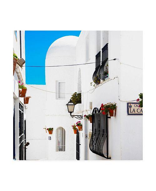 "Trademark Global Philippe Hugonnard Made in Spain 3 Mijas White Architecture Canvas Art - 36.5"" x 48"""