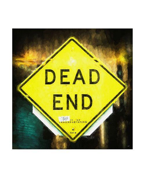 "Trademark Global Philippe Hugonnard Dead End Sign Canvas Art - 19.5"" x 26"""
