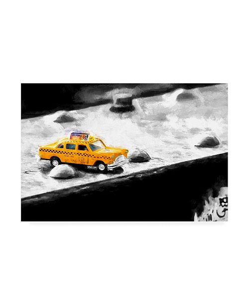"Trademark Global Philippe Hugonnard NYC Taxi Bridge Canvas Art - 19.5"" x 26"""