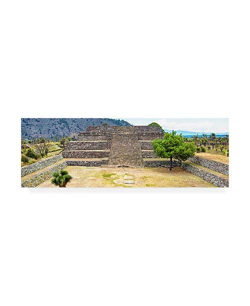 "Trademark Global Philippe Hugonnard Viva Mexico 2 Pyramid of Cantona Archaeological Site X Canvas Art - 27"" x 33.5"""