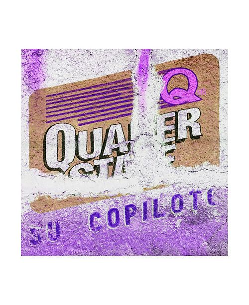 "Trademark Global Philippe Hugonnard Viva Mexico 3 Mexican Purple Grunge Wall Canvas Art - 15.5"" x 21"""