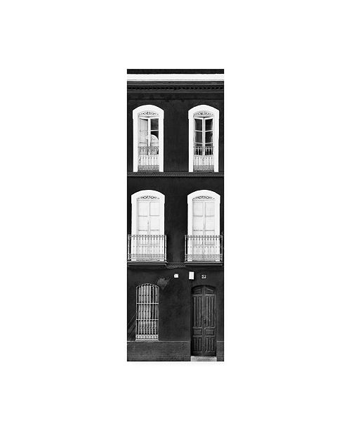 """Trademark Global Philippe Hugonnard Made in Spain 2 Facade of Traditional Spanish Building B&W Canvas Art - 15.5"""" x 21"""""""