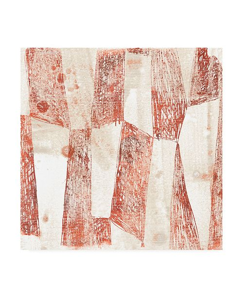 """Trademark Global June Erica Vess Red Earth Textile VII Canvas Art - 36.5"""" x 48"""""""