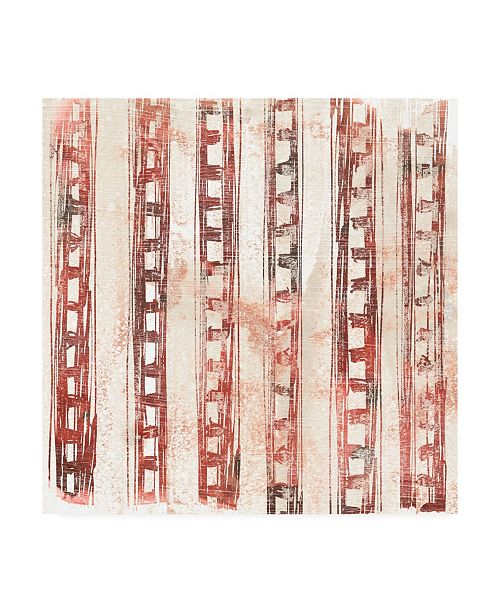 "Trademark Global June Erica Vess Red Earth Textile IX Canvas Art - 19.5"" x 26"""
