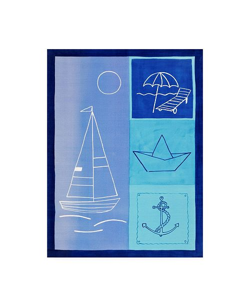 "Trademark Global Pablo Esteban Nautical Theme in Blues Canvas Art - 19.5"" x 26"""