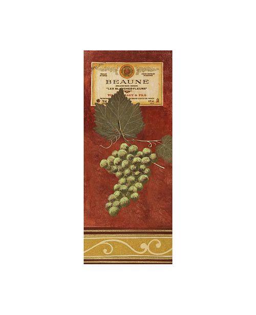 "Trademark Global Pablo Esteban Green Grapes with Label Canvas Art - 27"" x 33.5"""