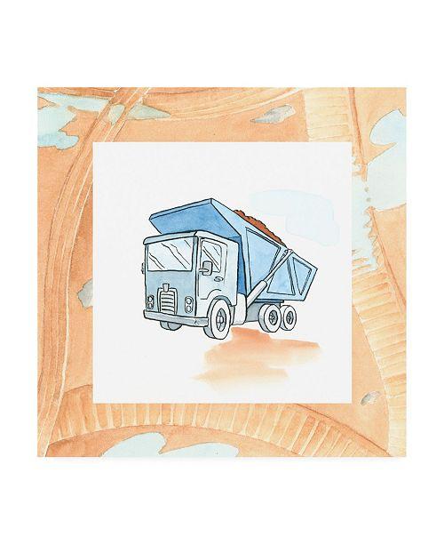 "Trademark Global Charles Swinford Charlies Dump truck Childrens Art Canvas Art - 15.5"" x 21"""