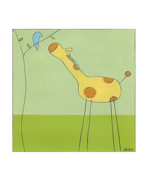 """Trademark Global June Erica Vess Stick leg Giraffe II Childrens Art Canvas Art - 19.5"""" x 26"""""""