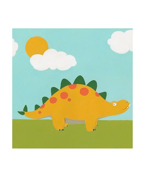 "Trademark Global June Erica Vess Playtime Dino II Canvas Art - 15.5"" x 21"""