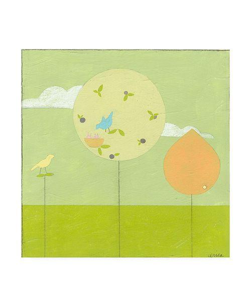 "Trademark Global June Erica Vess Lollipop Forest II Canvas Art - 15.5"" x 21"""