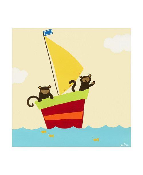 "Trademark Global June Erica Vess Sailboat Adventure III Canvas Art - 15.5"" x 21"""