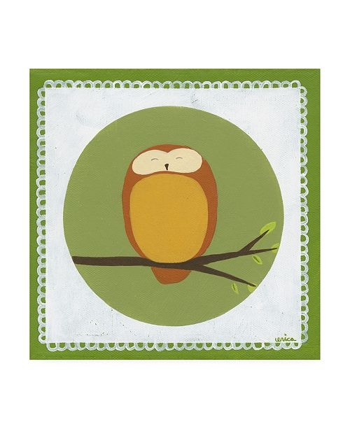 "Trademark Global June Erica Vess Owl Cameo I Canvas Art - 36.5"" x 48"""