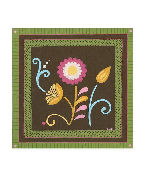 """Trademark Global June Erica Vess Patchwork Garden II Canvas Art - 15.5"""" x 21"""""""