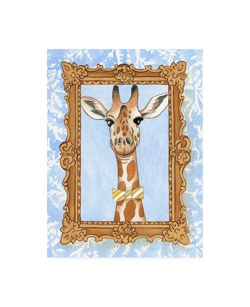 "Trademark Global Chariklia Zarris Teachers Pet Giraffe Canvas Art - 15.5"" x 21"""