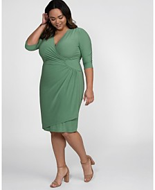 Kiyonna Womens Plus Size Ciara Cinch Dress