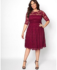Women's Plus Size Luna Lace Dress