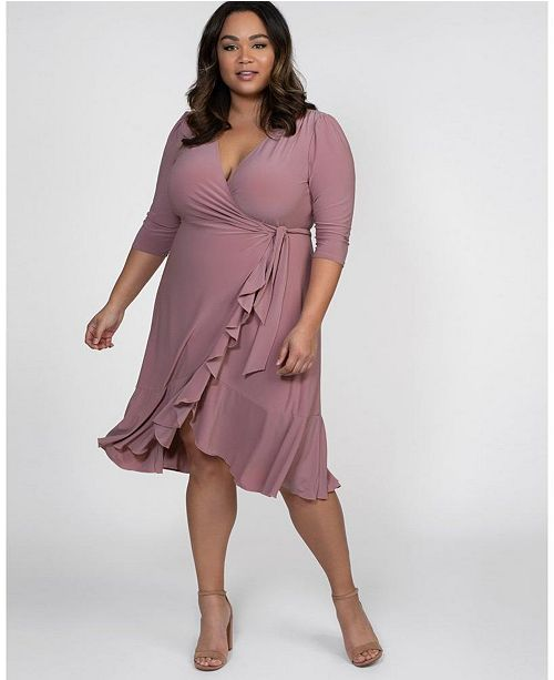 Women\'s Plus Size Whimsy Wrap Dress