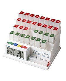 MedCenter Monthly Medication Organizer and Reminder System with Talking Clock