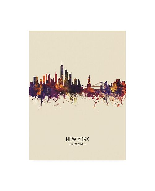 "Trademark Global Michael Tompsett New York Skyline Portrait III Canvas Art - 27"" x 33.5"""