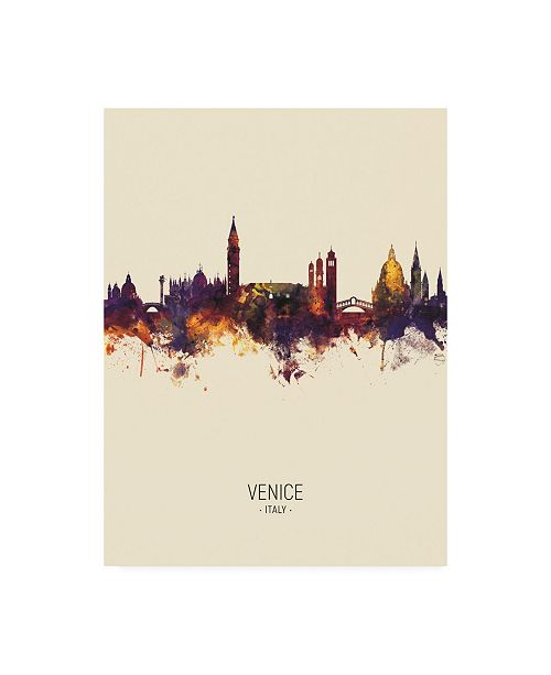 "Trademark Global Michael Tompsett Venice Italy Skyline Portrait III Canvas Art - 19.5"" x 26"""