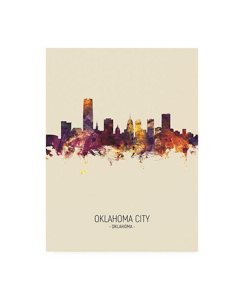 "Trademark Global Michael Tompsett Oklahoma City Skyline Portrait III Canvas Art - 19.5"" x 26"""