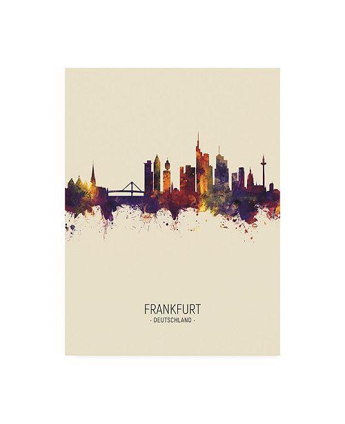 "Trademark Global Michael Tompsett Frankfurt Germany Skyline Portrait III Canvas Art - 36.5"" x 48"""