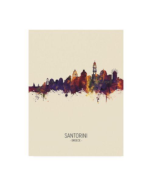 "Trademark Global Michael Tompsett Santorini Skyline Portrait III Canvas Art - 15.5"" x 21"""