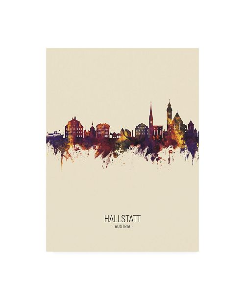 "Trademark Global Michael Tompsett Hallstatt Austria Skyline Portrait III Canvas Art - 15.5"" x 21"""