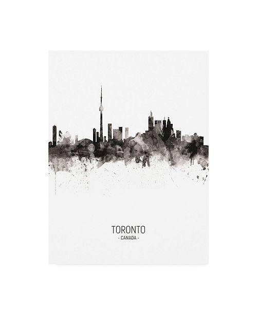 "Trademark Global Michael Tompsett Toronto Canada Skyline Portrait II Canvas Art - 27"" x 33.5"""