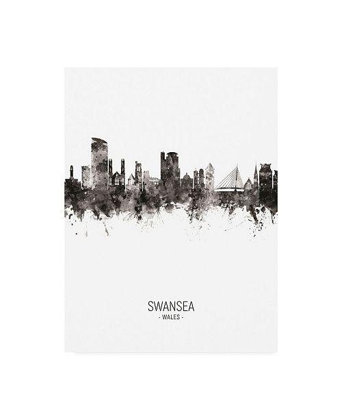 "Trademark Global Michael Tompsett Swansea Wales Skyline Portrait II Canvas Art - 36.5"" x 48"""