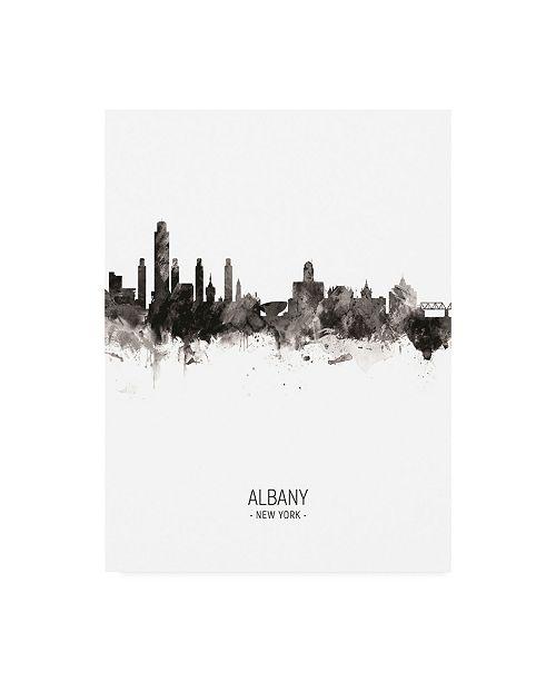"Trademark Global Michael Tompsett Albany New York Skyline Portrait II Canvas Art - 19.5"" x 26"""