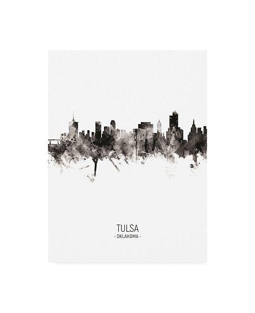 "Trademark Global Michael Tompsett Tulsa Oklahoma Skyline Portrait II Canvas Art - 15.5"" x 21"""