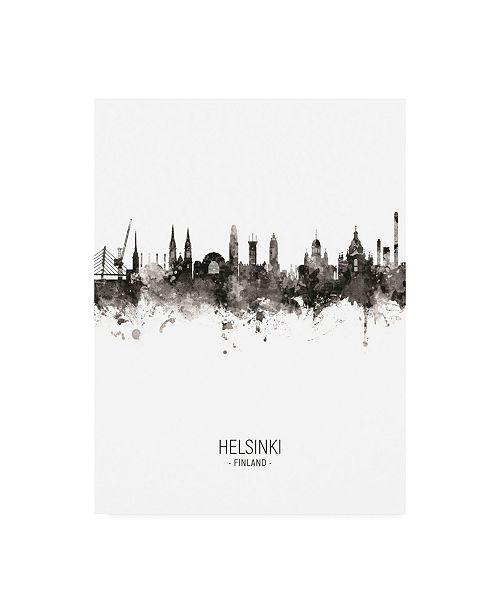 "Trademark Global Michael Tompsett Helsinki Finland Skyline Portrait II Canvas Art - 36.5"" x 48"""