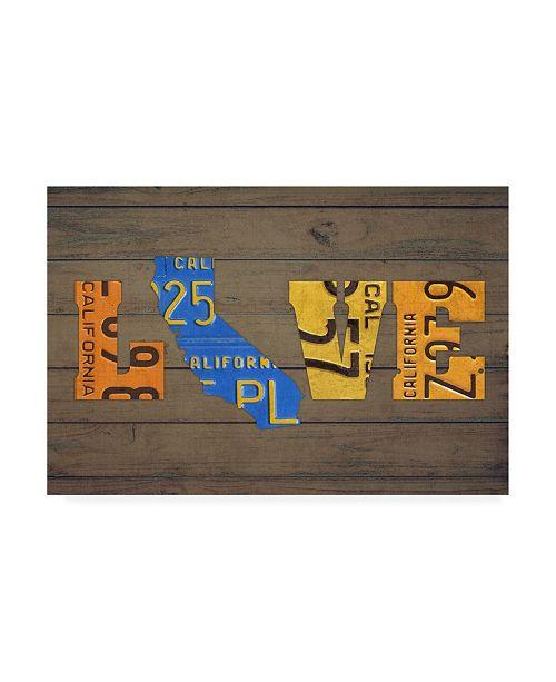 "Trademark Global Design Turnpike CA State Love Canvas Art - 36.5"" x 48"""