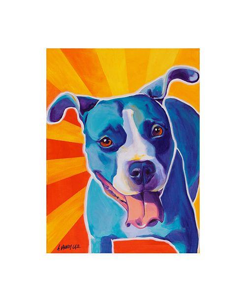 """Trademark Global DawgArt Leesa Ray Canvas Art - 19.5"""" x 26"""""""