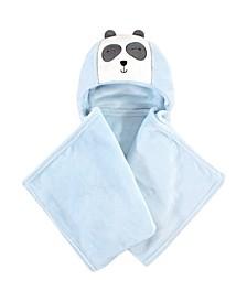 Hooded Plush Blanket, Modern Panda