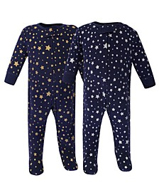 Zipper Sleep N Play, Metallic Stars, 2 Pack, Preemie