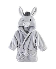 Plush Bathrobe, Donkey, 0-9 Months