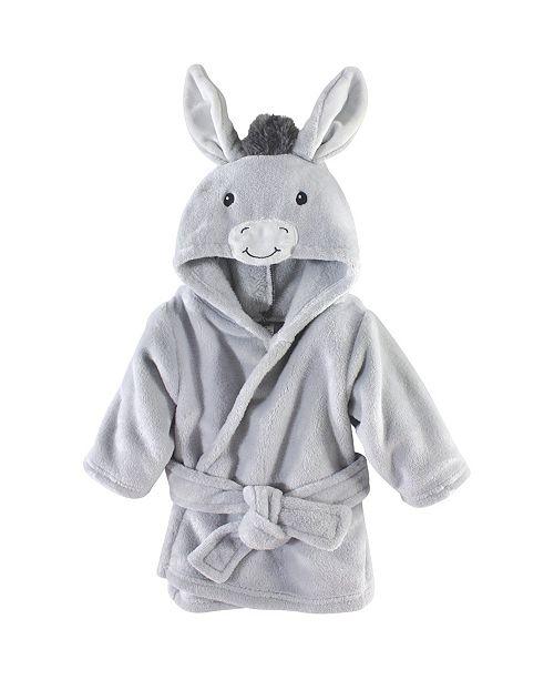Hudson Baby Plush Bathrobe, Donkey, 0-9 Months