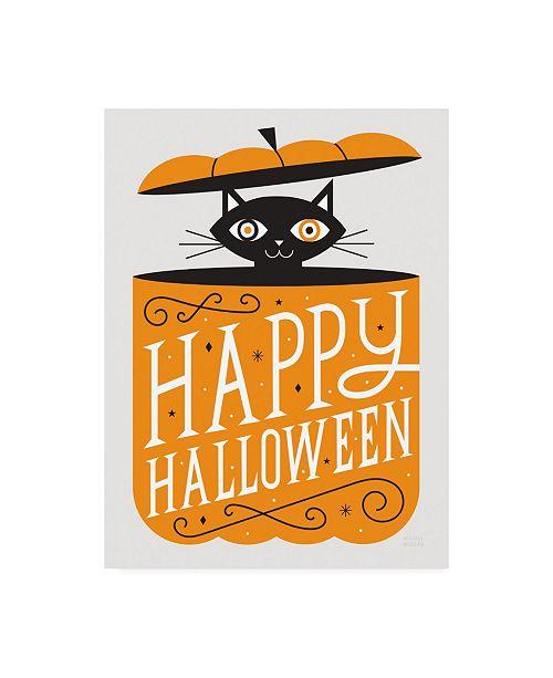 "Trademark Global Michael Mullan Festive Fright Cat Canvas Art - 27"" x 33.5"""